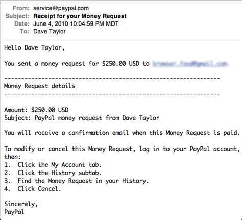 Payment Request Letter Email How Do I Request A Payment Via Paypal Ask Dave
