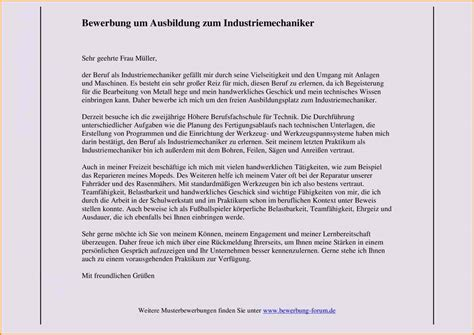 Bewerbungsschreiben Ausbildung Werkzeugmechaniker 11 Industriemechaniker Bewerbung Questionnaire Templated