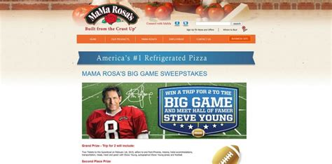 Sweepstakes Mama - mama rosa s big game sweepstakes win a trip to the big game