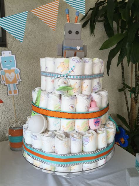 Bundle Of Baby Shower Theme bundle of bots robot theme baby shower cake with