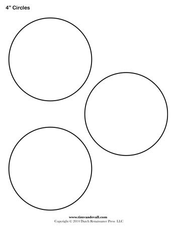circle template 4 inch tim s printables