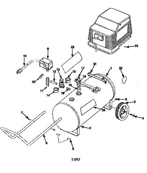 sears craftsman 919 162120 air compressor parts