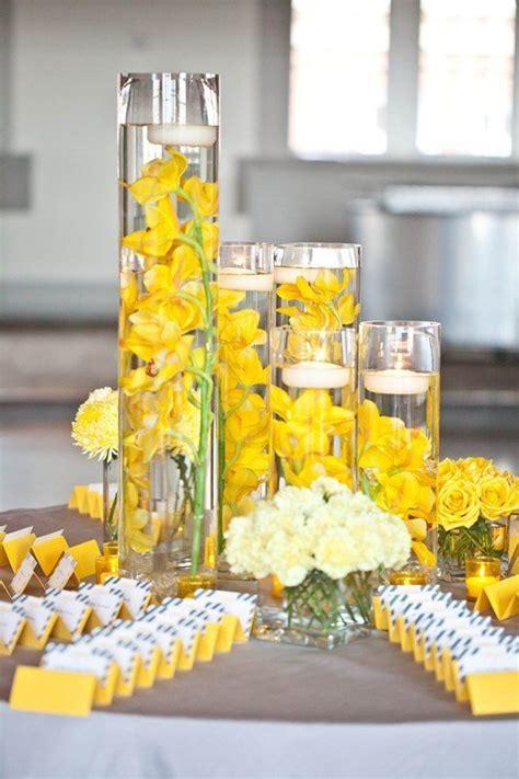 yellow flower centerpieces best 20 yellow centerpiece wedding ideas on