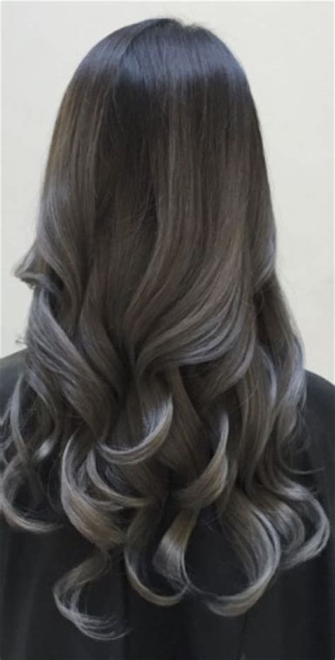 balayage cover gray hair grey balayage and dark on pinterest