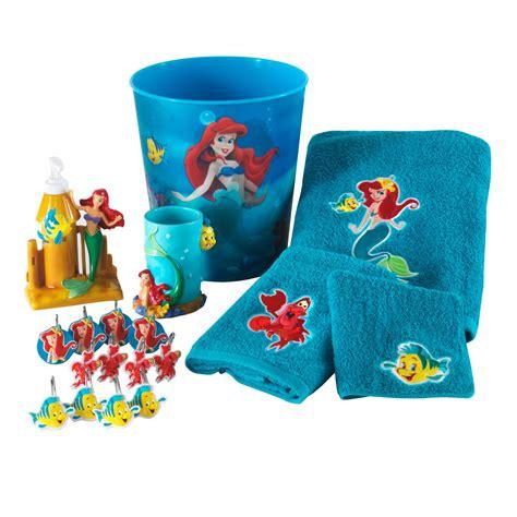the little mermaid bathroom set disney little mermaid waste basket