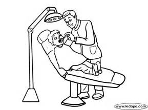 dentist coloring pages dentist 1 coloring page