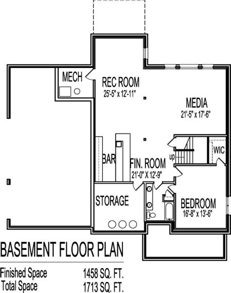 two story house plans with basement rooms