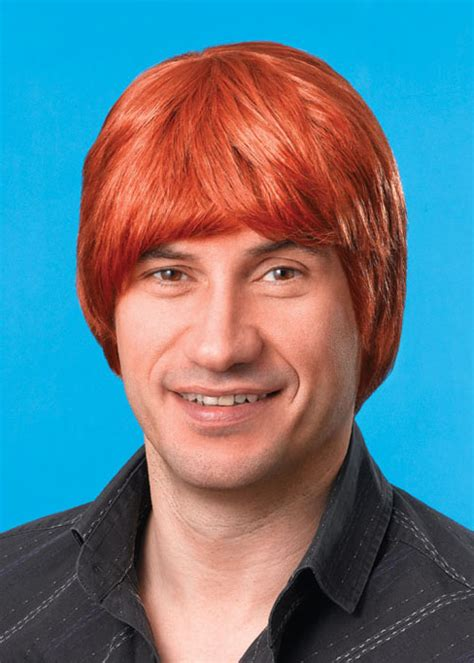 pub shop wigs male wig ginger ginger male wig