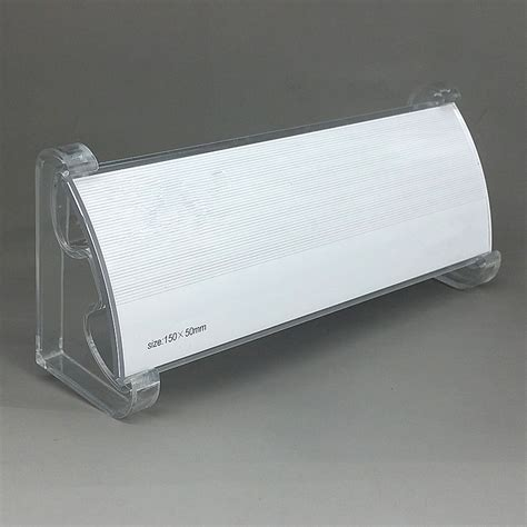 Label Name Plate Display Stand Acrylic Akrilik Model Tenda 20x7 Cm compare prices on clear plastic label holders