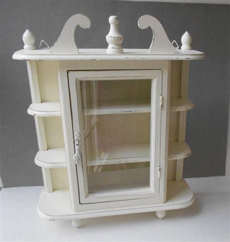 breathtaking distressed white wood shelf decorating ideas curio cabinet vintage wood cottage white distressed