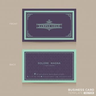 classic business card template free deco border vectors photos and psd files free