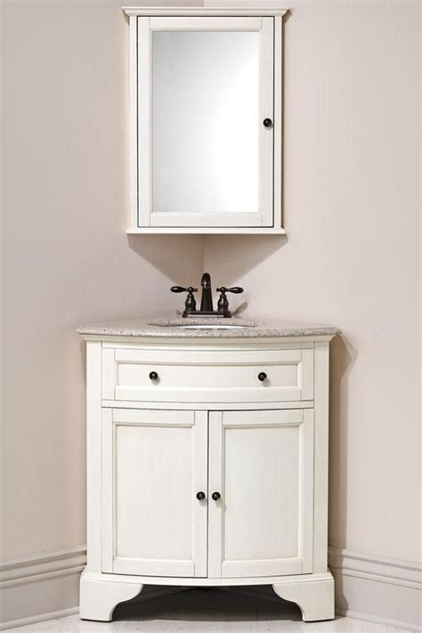 Corner Bathroom Cabinet With Mirror Corner Vanity On Corner Bathroom Vanity
