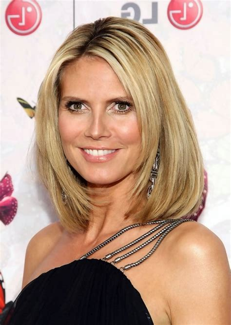 medium haircuts heidi klum heidi klum medium bob hairstyle for styles weekly