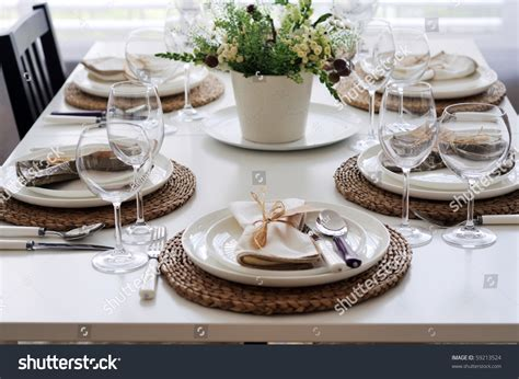 table setting for lunch summer table setting lunch stock photo 59213524