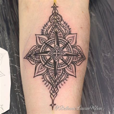 henna tattoo compass compass mandala for appointments email
