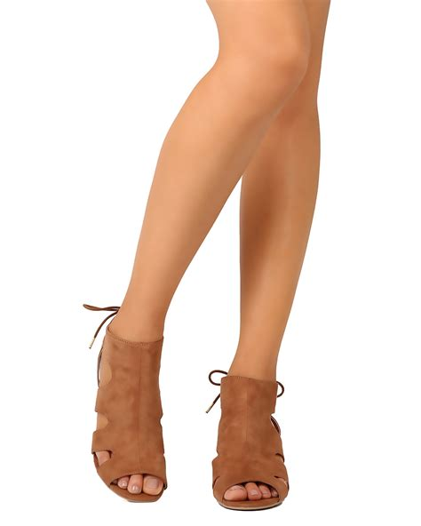 Sandal Joey 1 new qupid joey 10 faux suede peep toe cut out back