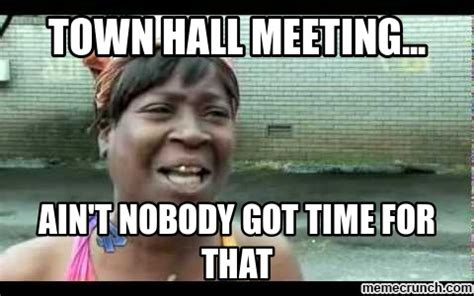 Meme Meeting - town hall meeting