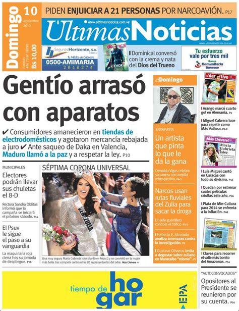 maduradas de hoy 191 domingo de saqueos estos son los titulares de la prensa