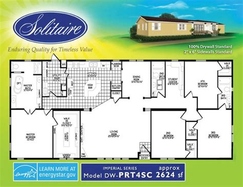 solitaire manufactured homes floor plans spacious double wide mobile home floorplans in new mexico