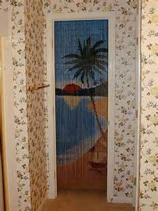 Bamboo beaded curtain bamboo craft photo