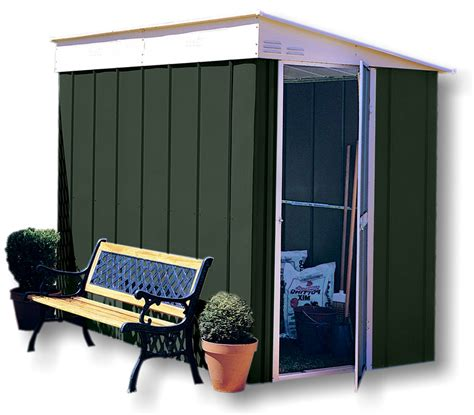 Lean To Metal Shed by Shed Baron Grandale Lean To Galvanised Canberra Metal Shed