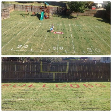 soccer field backyard pinterest
