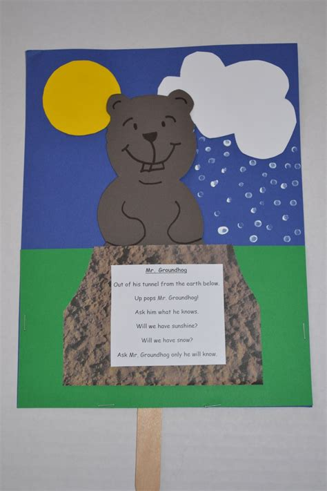 groundhog day kindergarten best photos of groundhog crafts for kindergarten