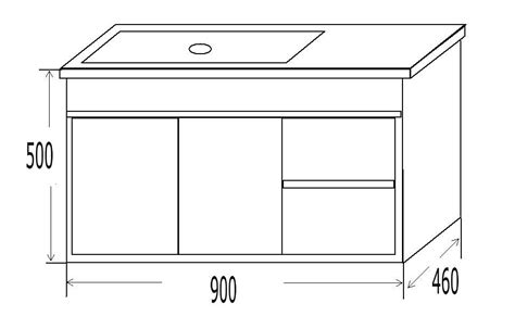 900mm WALL HUNG VANITY (1 Tap Hole, 3 Tap Hole, 900mm