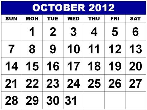 October 2012 Calendar Free Is My Freeismylife October 2012 Calendar Don