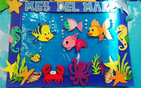 goma eva decoracion infantil decoraci 243 n mes del mar con goma eva material did 225 ctico