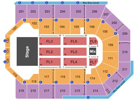 citizen bank arena seating chart tickets seating chart citizens business bank arena