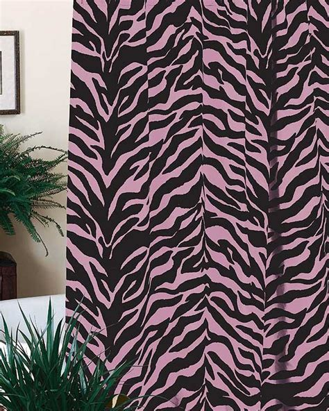 Pink Zebra Print Shower Curtain Blanket Warehouse