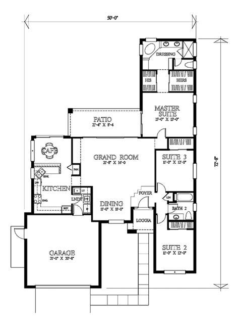 mediterranean style house plan 3 beds 2 baths 1250 sq ft mediterranean style house plan 3 beds 2 baths 1804 sq ft