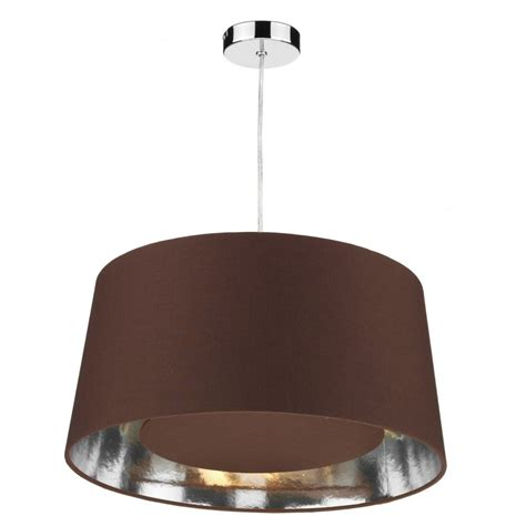 Brown Ceiling Light Shades with Dar Lighting Bugle Ceiling Light Shade Pendant In Chocolate Brown Finish Dar Lighting From