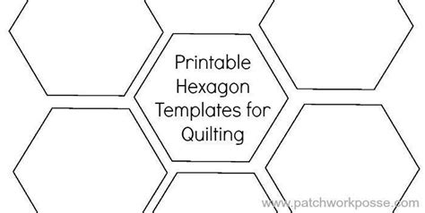 1 1 2 quot hexagon template printable craftsy