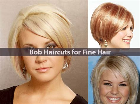 what is a good haircut for fine hair and middle age woman amazing bob haircuts for fine hair hairstyle for women