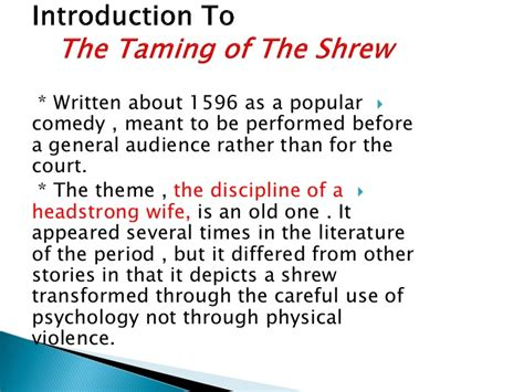 The Taming Of The Shrew 2 by Induction Act I Of The Taming Of The Shrew By Dr Fawzia