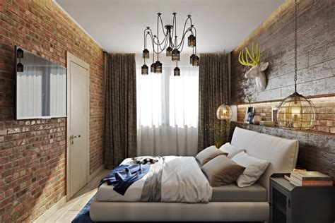 Bedroom Curtains Ideas bold industrial meets rustic bedroom decor digsdigs