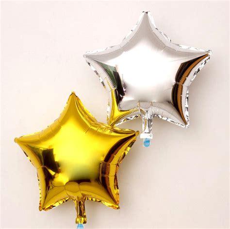 Balon Foil Bintang Size 18 Inch 45 Cm Warna Hitam aliexpress buy 10pcs 45cm 18inch gold silver