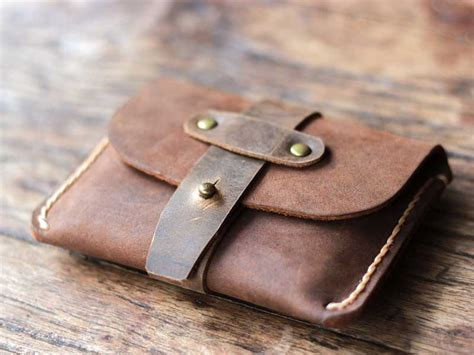 Mens Handmade Leather Wallet - splendid front pocket slim wallets for gifts for