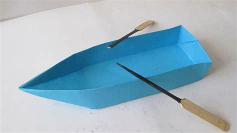 que boten como hacer una canoa lancha o bote de papel youtube