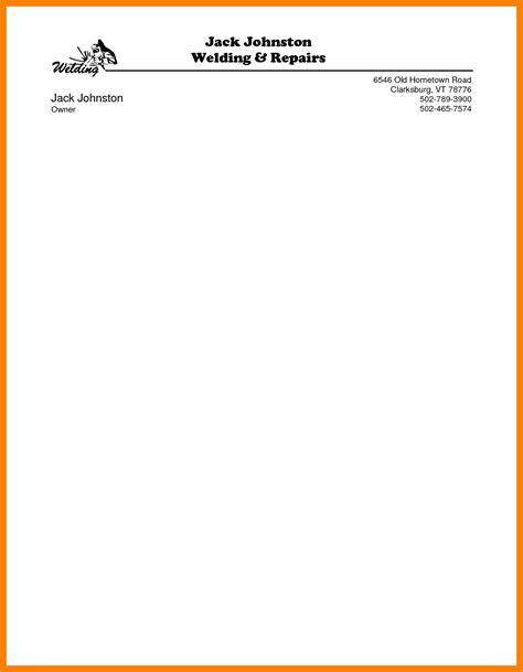 standard letterhead template for word