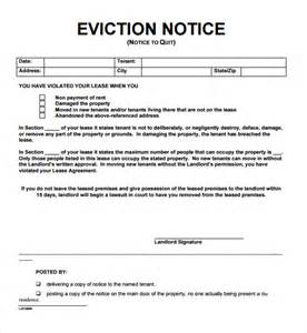 eviction notice template word 24 free eviction notice templates excel pdf formats