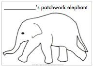 Elmer The Elephant Template by Best Photos Of Elephant Templates For Preschool Letter E