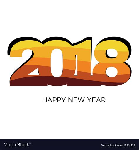 new year label vector happy new year 2018 colorful label royalty free vector image