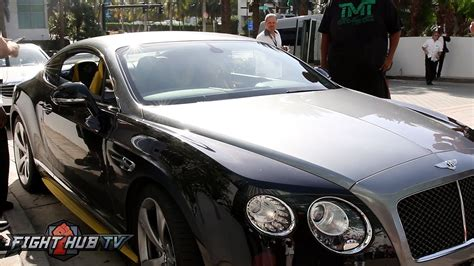 mayweather bentley floyd mayweather leaves wbc convention in sick custom