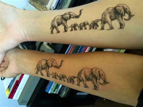 tattoo family elephants elephant family tattoo tattoos by eddie davis