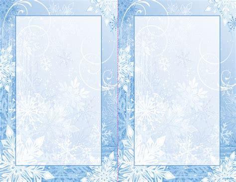 christmas 2 up printable invitations winter wonderland
