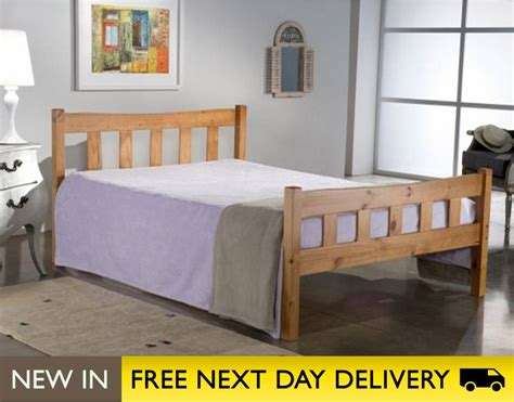 4ft small double bed miami pine 4ft small double wooden bed miab4pin
