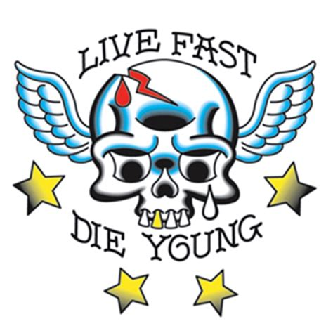 live fast die young tattoo live fast die temporary usimprints